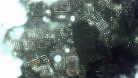 福七FS7排字祝福  福五飛越台灣上空取像彰化及雲林學生排字「FS7」,祝福福爾摩沙衛星七號能順利發射,福衛五號透過空照記錄這難得一刻。(太空中心提供)中央社記者劉麗榮傳真 108年6月19日