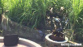 彰化縣和美鎮加保公墓一男屍倒插在棺木內/翻攝畫面