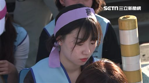 長榮罷工/罷工空服員與內勤員工互相嗆聲(抗議現場)正妹美女空服員