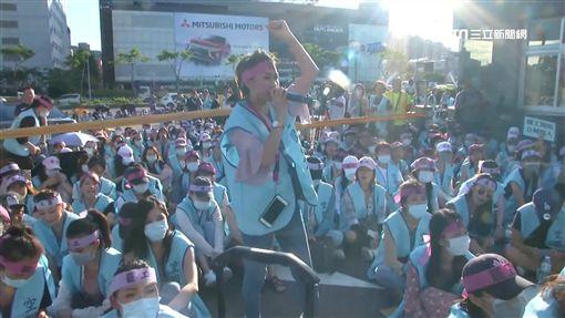 長榮罷工/美女、正妹、空服員抗議