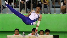 李智凱全大運鞍馬奪金體操好手李智凱1日參加全大運個人單項賽事,在鞍馬項目以15.25分拿下金牌。中央社記者吳家昇攝 108年5月1日
