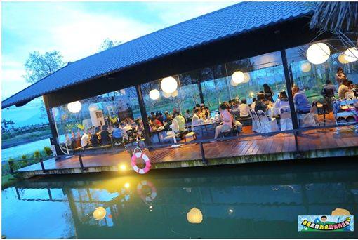 ▲水明漾活蝦景觀餐廳(圖/部落客:「肉魯 走遍全台灣‧環遊全世界」授權提供,非經同意請勿轉載。以下同)