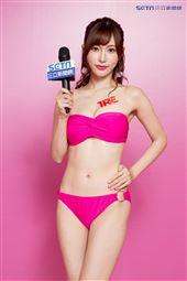 日本人氣AV女優天使萌接受三立新聞網專訪。(記者林士傑/攝影)