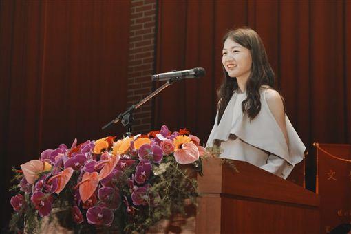 江孟芝返回母校師大演講。(圖/翻攝自江孟芝FB)