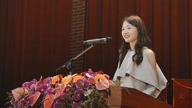 (16:9)江孟芝返回母校師大演講。(圖/翻攝自江孟芝FB)