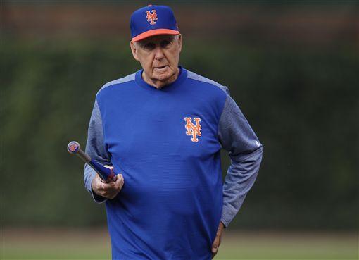 ▲紐約大都會新任代理投手教練Phil Regan高齡82歲。(圖/美聯社/達志影像)