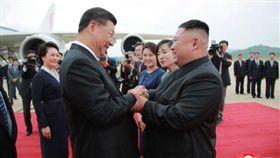 中國,北韓,迎賓,習近平,國是訪問,金正恩(圖/翻攝自KCNA)