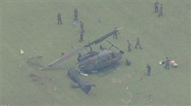 日本,自衛隊,直升機,迫降,飛行員(圖/翻攝自NHK)