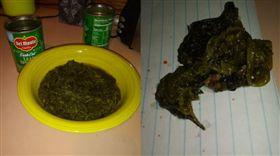 菠菜,罐頭,小鳥,屍體,客訴(圖/翻攝自臉書)