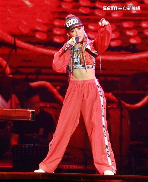 Coco李玟You&I 世界巡迴演唱會台北站唱嗨台北小巨蛋。(記者邱榮吉/攝影)