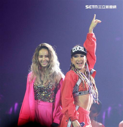 Coco李玟You&I 世界巡迴演唱會特別嘉賓蔡依林。(記者邱榮吉/攝影)