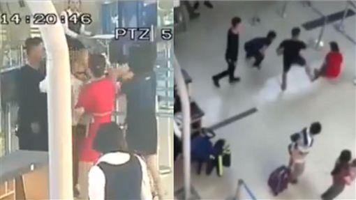 越南,地勤,機場,施暴(圖/翻攝自YouTube;臉書)