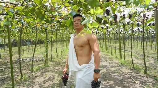 賣自家葡萄!六塊肌健身教練「葡萄串遮點」