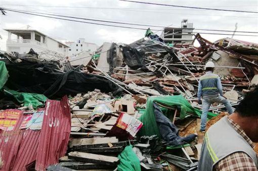 柬埔寨,豆腐渣,中資,工安,意外,倒塌,大樓推特