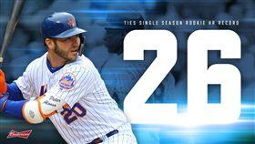 ▲阿隆索(Pete Alonso)明星賽前26轟追平國聯新人紀錄。(圖/翻攝自大都會推特)