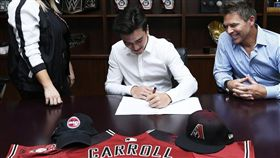 Corbin Carrol簽約響尾蛇。(圖/翻攝自推特)