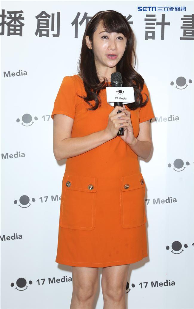 許淑華出席17直播合作計畫發布會。(記者林士傑/攝影)