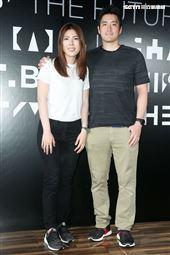 理科太太與理科先生一同出席黑鏡首映發表會。(記者林士傑/攝影)