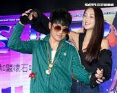 曹格以全新身分「曹小格」推出全新創作專輯「曹小格Super Junior」,太太吳速玲現身力挺大秀愛。(記者林士傑/攝影)