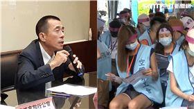 ▲台北市旅行商業同業公會今日下午召開記者會,嚴厲譴責長榮空服員罷工,不排除將走上街頭抗議。(合成圖/記者唐家興攝影、資料照)