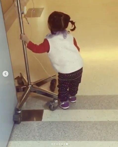 楊千霈女兒三度住院。(圖/IG)