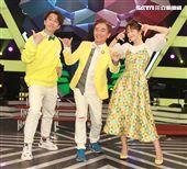 吳宗憲、陳漢典和Lulu主持《綜藝大熱門》歡慶6週年。(記者邱榮吉/攝影)