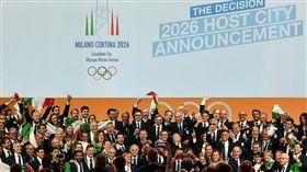 2026年冬季奧運將在義大利米蘭市(Milan)和附近滑雪勝地柯蒂納戴比索(Cortina d'Ampezzo)舉行。(圖/翻攝自推特)
