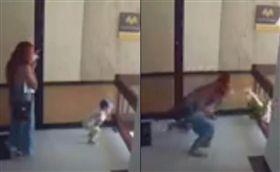 哥倫比亞,樓梯,欄杆,男童,墜樓(圖/翻攝自推特)