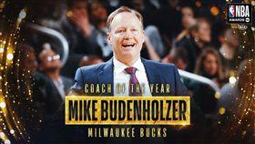 NBA,密爾瓦基公鹿,Mike Budenholzer NBA/公鹿主帥贏得年度最佳教頭獎 翻攝自NBA官方推特