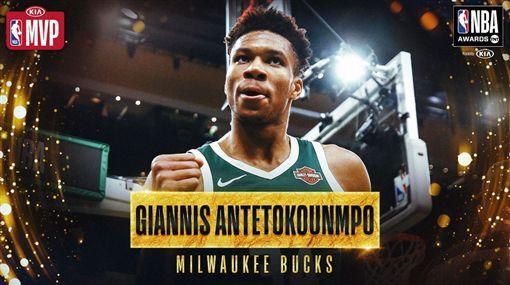 NBA/贏年度MVP!字母哥落淚NBA,密爾瓦基公鹿,Giannis Antetokounmpo,年度MVP翻攝自推特