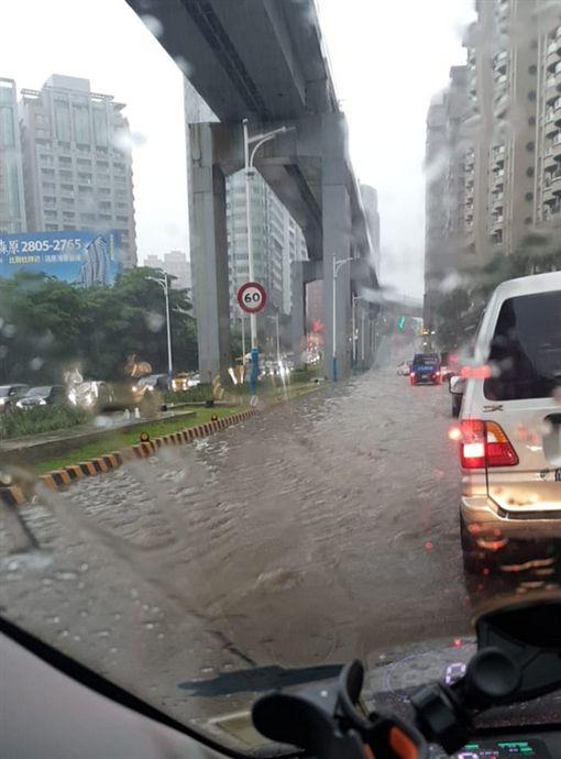 新北市,淡水,積水,暴雨