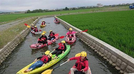 「黃金河稻」獨木舟新祕境曝光;圖/中華中划授權提供 ID-1987878
