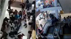 印度,購物中心,男孩,手扶梯,褲子  圖/翻攝自YouTube/D P