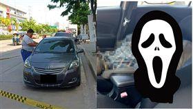乾屍,泰國,轎車,惡疾,脫水,遺體,路邊,停車,皮包骨,遺體 圖/翻攝自泰國網臉書