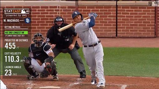▲馬查多(Manny Machado)重返發跡地敲出生涯百轟。(圖/翻攝自MLB官網)