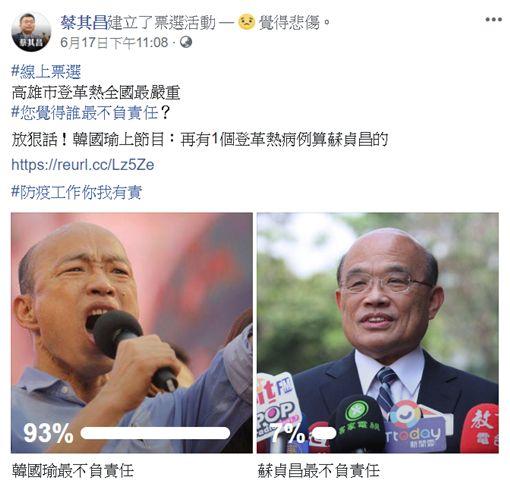 翻攝蔡其昌臉書