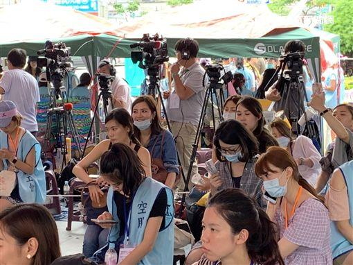 罷工,空服員,莎莎,桃園,記者陳啓明攝,翻攝畫面