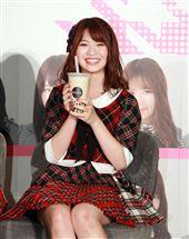 AKB48成員馬嘉伶回台灣最想喝米漿。(記者邱榮吉/攝影)