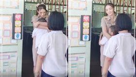 泰國,老師,愛的抱抱,酥胸,男童 圖/翻攝自臉書泰國清邁象