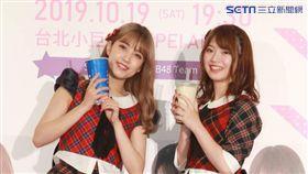「AKB48」台灣成員馬嘉伶與日本人氣團員加藤玲奈。(圖/記者邱榮吉攝影)