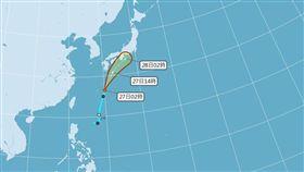 聖帕颱風預測(圖/氣象局)