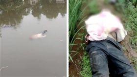 夢裡很冷⋯「男浮屍」漂水中央還睡死(圖/翻攝自梨視頻)