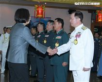 總統出席「108年下半年陸海空軍將官晉任布達暨授階典禮」(圖/記者邱榮吉攝)