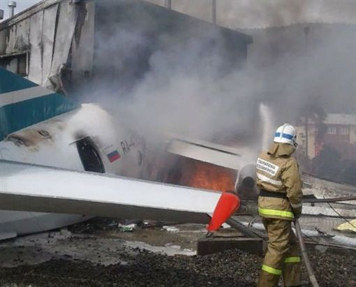 俄羅斯,客機,緊急,迫降,機場(圖/翻攝自Onliner.by twitter)