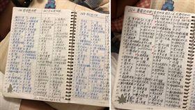 一名女網友表示,她的爺爺是外省退伍老兵,現在已經80多歲了,但爺爺每天仍坐在書桌前,不停的吸收各種知識,某日她翻了爺爺的筆記後驚呆了,因為在筆記本內,不管是偶像明星、醫學知識或成語都很詳細,甚至比維基百科還清楚。(圖/Dcard)