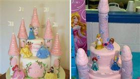 奈及利亞一名女子Ruth Abokoku,她為了慶祝姪女的生日,特別訂了公主城堡蛋糕,沒想到收到成品後,城堡竟變成「限制級」的模樣,讓她氣得PO文罵:「這是垃圾」。其他網友看到後掀起熱議,紛紛直喊:「太可怕了吧,根本不是城堡」。(翻攝自推特Ruth Abokoku)
