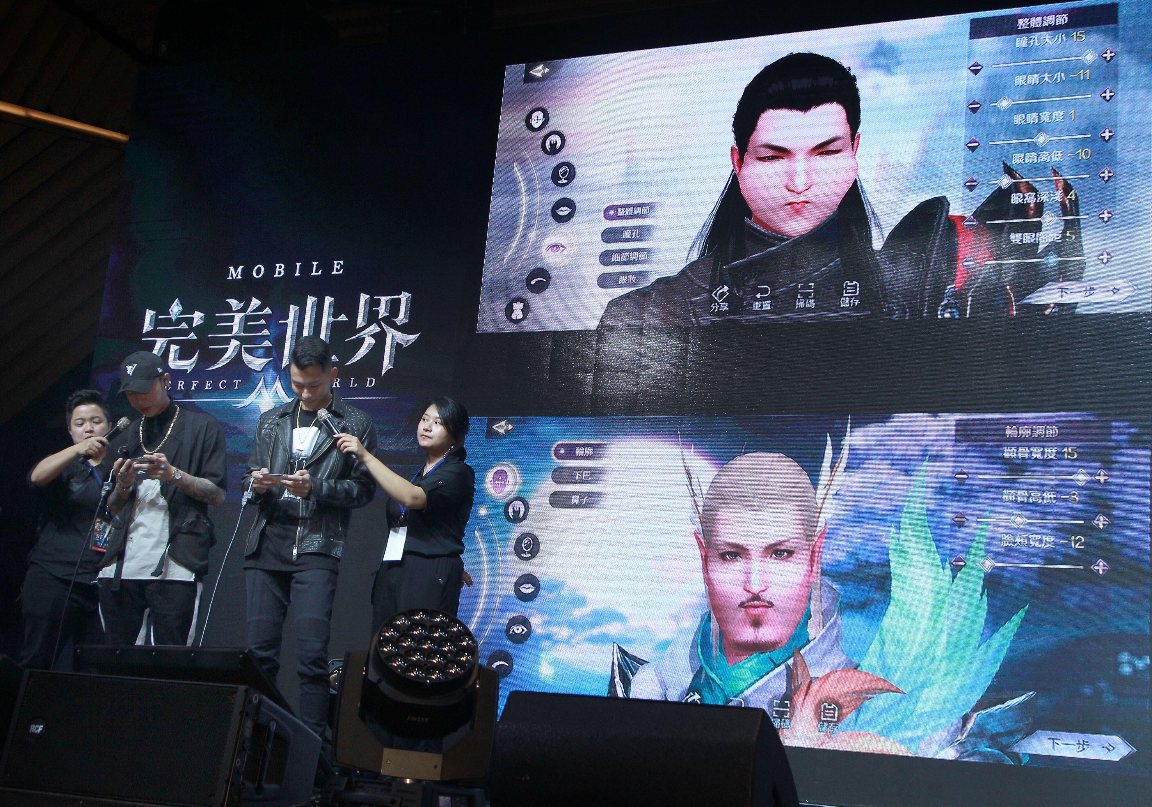 張惠妹與頑童首度獻唱電玩遊戲主題曲。(記者邱榮吉/攝影)