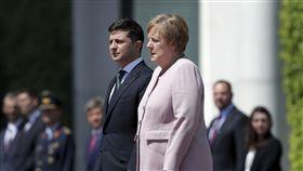 德國總理梅克爾,烏克蘭總統澤連斯基 圖/美聯社/達志影像
