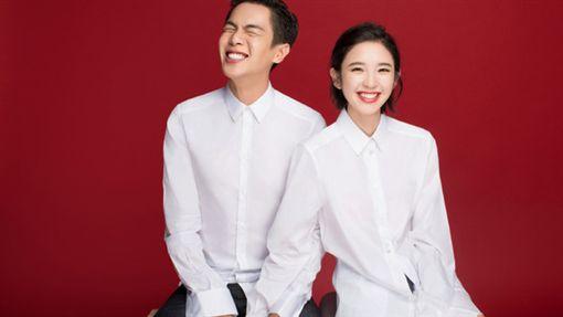 唐藝昕, 張若昀婚照 微博