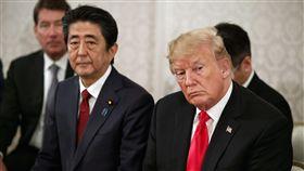 美國總統川普與日本首相安倍晉三舉行領袖會談,圖/美聯社/達志影像